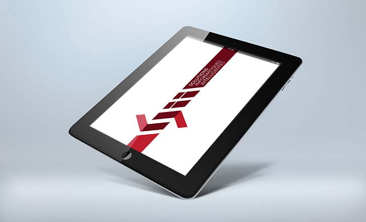 Simulation logotype sur tablette SII