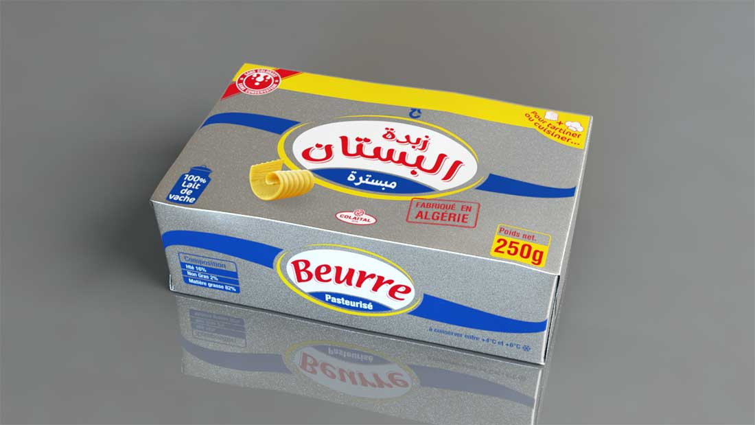 Colaital - packaging beurre El Boustane